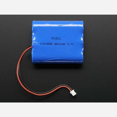 Lithium Ion Battery Pack - 3.7V 6600mAh