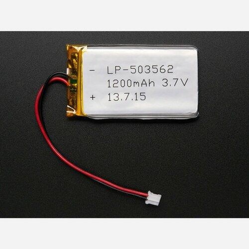 Lithium Ion Polymer Battery - 3.7v 1200mAh