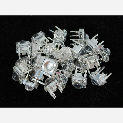 Clear 'Piranha' Super-flux RGB (tri-color) LED (25 pack) [Common Anode]