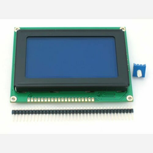 Graphic KS0108 LCD 128x64 + extras [white on blue]