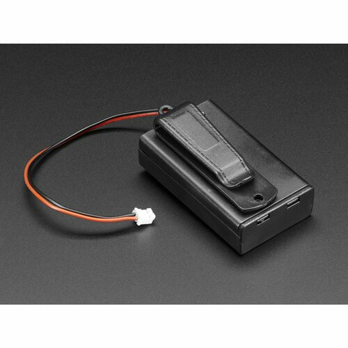 3 x AAA Battery Holder with On/Off Switch, JST, and Belt Clip