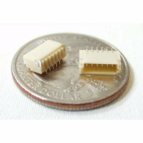 JST SH Vertical 6-Pin Connector - SMD