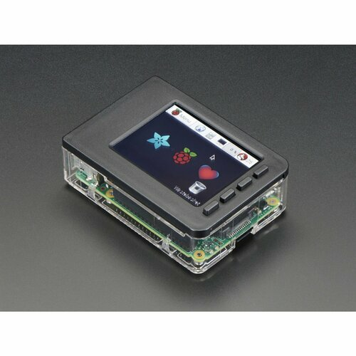 Pi Model B+ / Pi 2 / Pi 3 - Case Base and Faceplate Pack - Clear [for 2.8 PiTFT]
