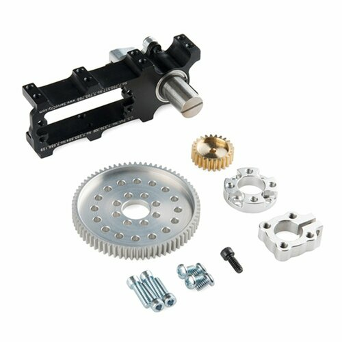 Channel Mount Gearbox Kit - 360° Rotation (7:1 Ratio)