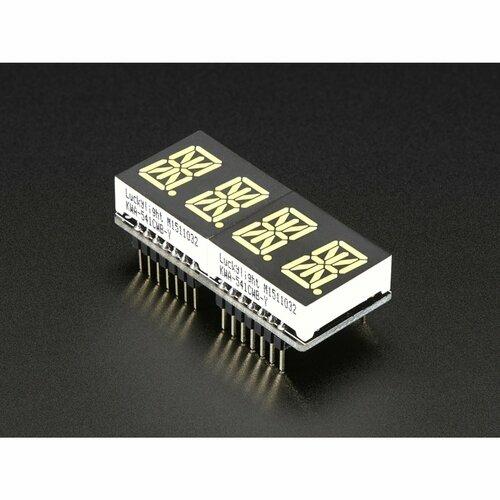 Adafruit 0.54 Quad Alphanumeric FeatherWing Display - Various