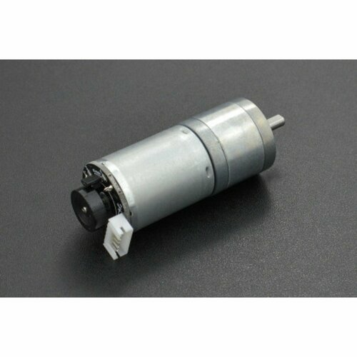 Metal DC Geared Motor w/Encoder - 6V 100RPM 6.5Kg.cm
