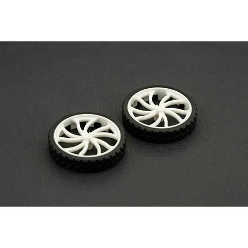 N20 ABS Rubber Wheel 43x9mm (Pair)