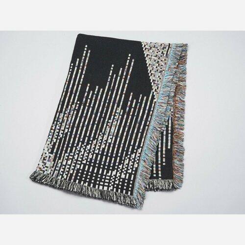 Glitch Textiles Dark Code Throw