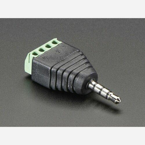 3.5mm (1/8) 4-Pole (TRRS) Audio Plug Terminal Block