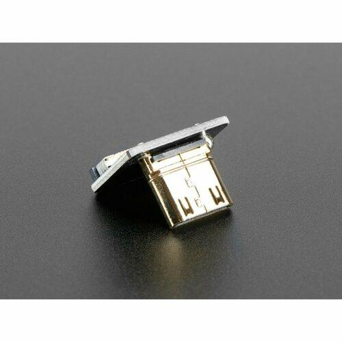 DIY HDMI Cable Parts - Right Angle (R bend) Mini HDMI Plug