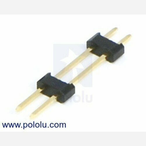 0.100 (2.54 mm) Extended Male Header: 1x2-Pin, 22.85 mm