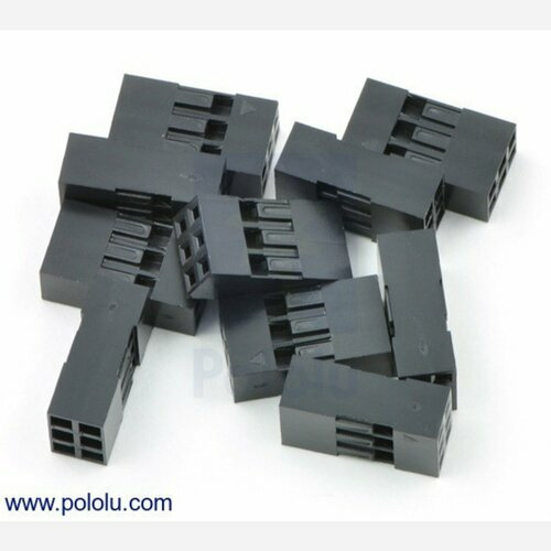 0.1 (2.54mm) Crimp Connector Housing: 2x3-Pin 10-Pack