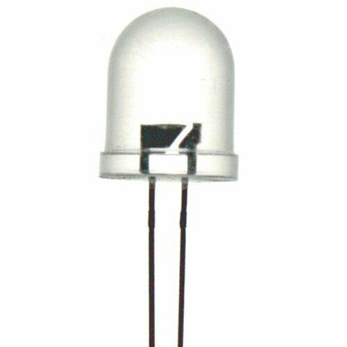 White 10mm LED 5000mcd Round Clear