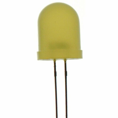 Yellow 10mm LED 90mcd Round Diffused