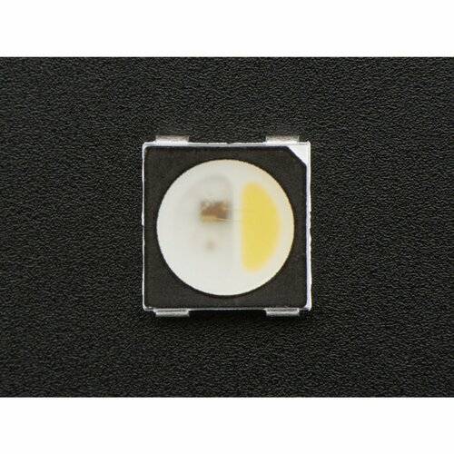 NeoPixel RGBW LEDs w/ Integrated Driver Chip - Natural White [~4500K - Black Casing - 10 Pack]