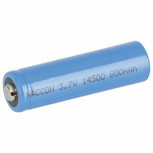 14500 Rechargeable Li-Ion Battery 800mAh 3.7V Nipple