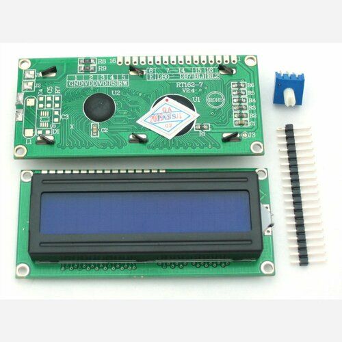Standard LCD 16x2 + extras [white on blue]
