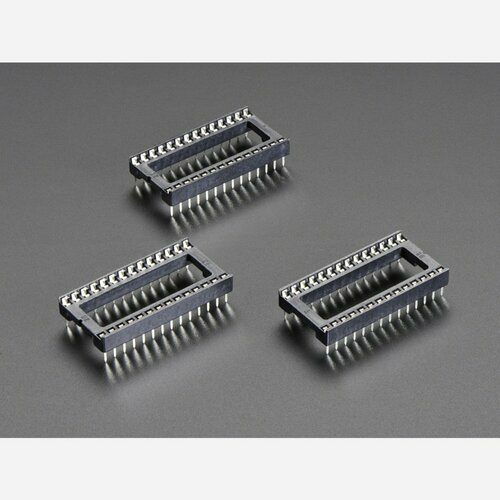 IC Socket - for 28-pin 0.6 Chips - Pack of 3