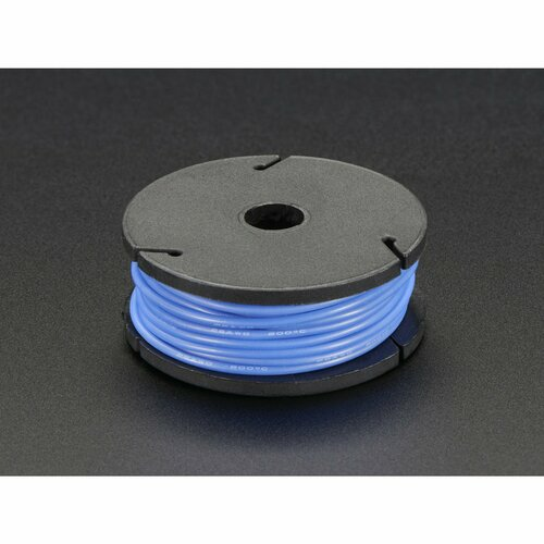 Silicone Cover Stranded-Core Wire - 25ft 26AWG - Blue