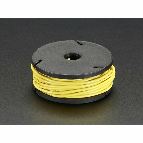 Silicone Cover Stranded-Core Wire - 25ft 26AWG - Yellow