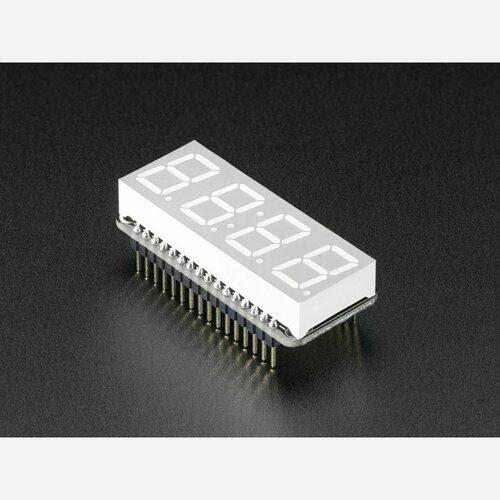 Adafruit 4-Digit 7-Segment LED Matrix Display FeatherWing - Blue