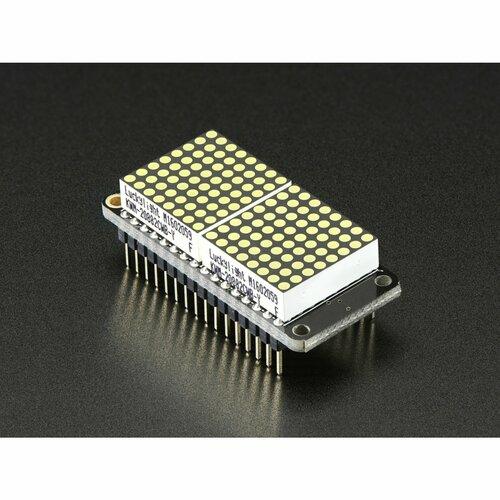 Adafruit 0.8 8x16 LED Matrix FeatherWing Display Kit - White