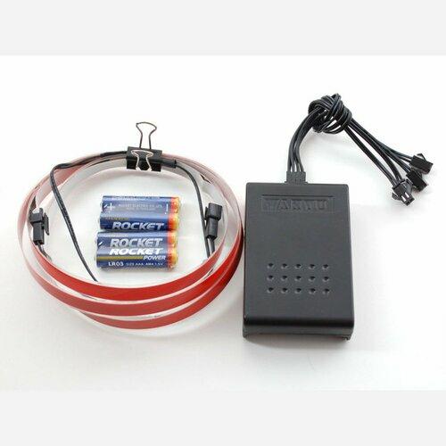 Electroluminescent (EL) Tape/Strip Starter Pack - 100cm - Red