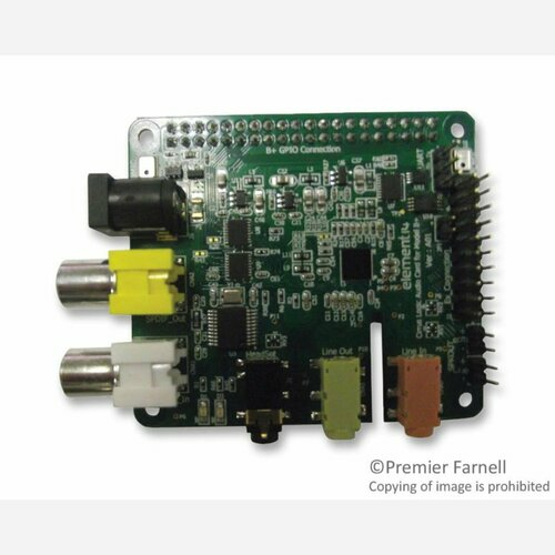 Audio Card for Raspberry Pi B+, 2B