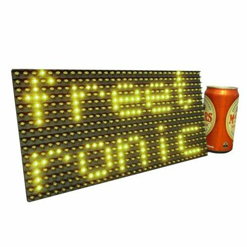 Yellow LED Dot Matrix Display Panel 32x16 (512 LEDs)