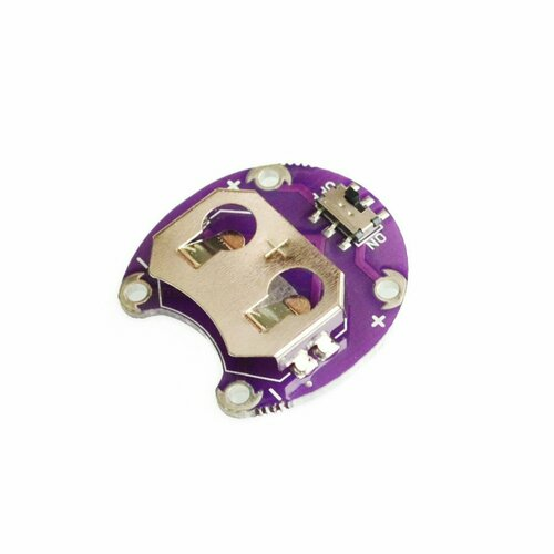 E-Textiles Battery Holder with Switch