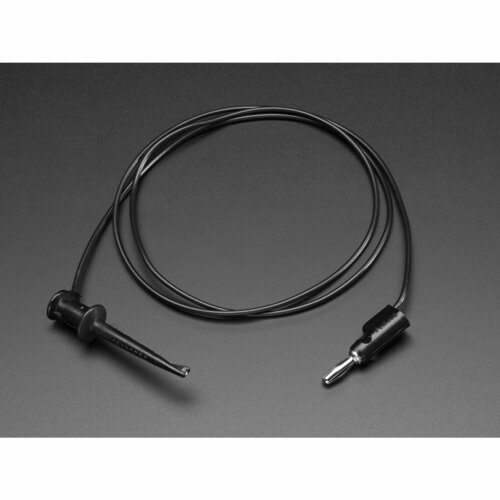 Pomona Minigrabber Test Clip to Stacking Banana Plug - 36 [Black]