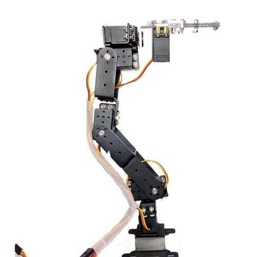 6 DOF Claw Mount Robot Kit Aluminium Mechanical Robotic Arm Clamp