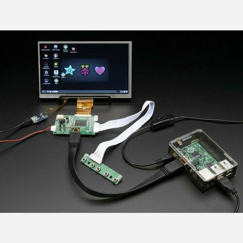 HDMI 4 Pi: 7 Display w/Touchscreen 1024x600 w/ Mini Driver