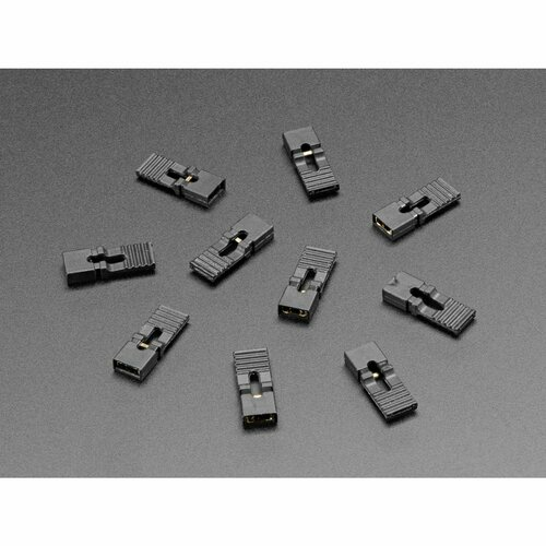 Jumper Shunt with Handle (0.1 / 2.54mm) – 10 Pack