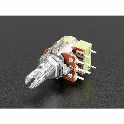 Panel Mount 10K Dual Log Potentiometer w/ On-Off Switch [10K Dual Log w Switch]