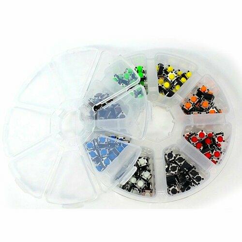160 pcs 5mm 8 Colours Tactile Push Button