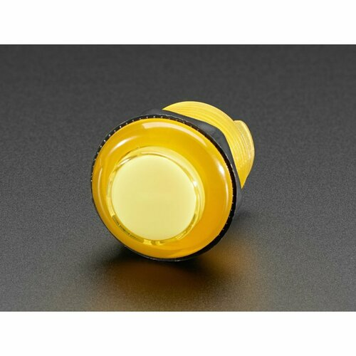Arcade Button with LED - 30mm Translucent Yellow