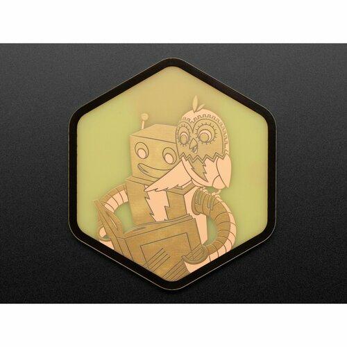 Adafruit PCB Coaster - Minerva + Adabot