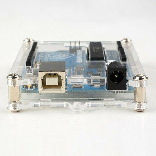 Uno R3 Enclosure Transparent Acrylic Case Compatible with Arduino UNO R3