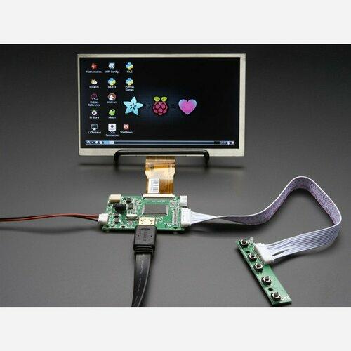 HDMI 4 Pi: 7 Display no Touchscreen 1024x600 w/ Mini Driver