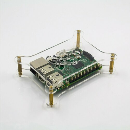 Multilayer Transparent Acrylic Case with Logo for Raspberry Pi DIY