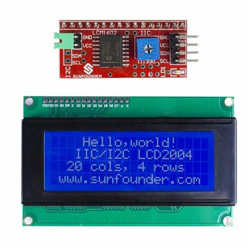 IIC/I2C/TWI Serial 2004/20x4 LCD Module Shield for Arduino Uno/Mega2560