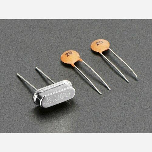 8 MHz Crystal + 20pF capacitors