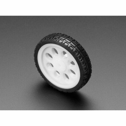 Thin White Wheel for TT DC Gearbox Motors - 65mm Diameter