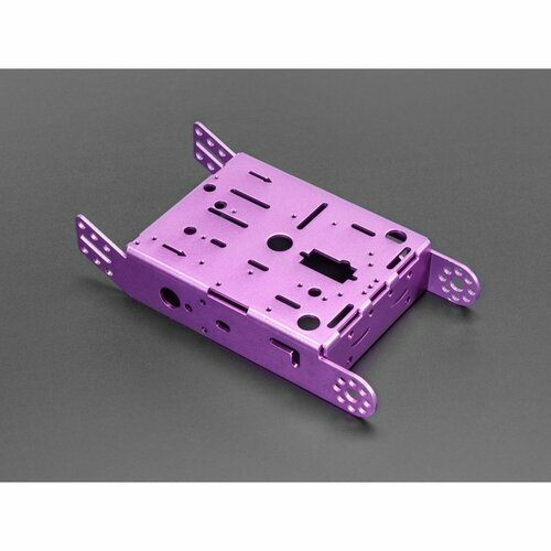 Purple Aluminum Chassis for TT Motors - 2WD