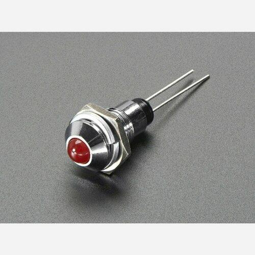 5mm Chromed Metal Wide Convex Bevel LED Holder - Pack of 5